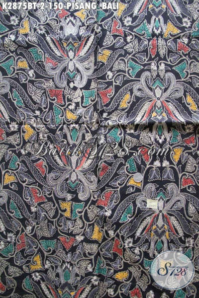 Koleksi Terkini Kain Batik Lawasan, Batik Klasik Halus Proses Kombinasi Tulis Motif Pisang Bali, Pas Banget Untuk Seragam Kerja Formal [K2875BT-240x110cm]
