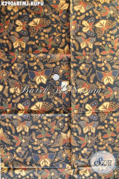 Alamat Grosir Kain Batik Solo, Jual Batik Jarik Halus Motif Kupu Proses Kombinasi Tulis Hanya 120K [K2906BTMJ-240x105cm]