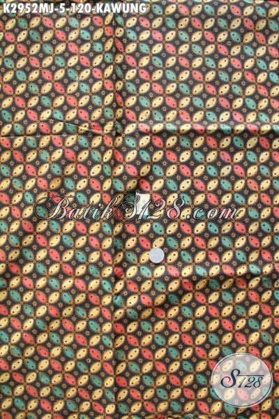 Batik Jarik Motif Kawung, Produk Kain Batik Istimewa Buatan Solo Kwalitas Bagus Harga Murah [K2952MJ-240x105cm]