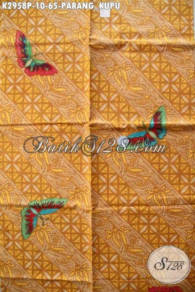 Batik Kan Parang Kupu, Batik Kain Buatan Solo Nan Istimewa Dengan Harga Biasa, Bahan Baju Kerja Dan Pesta [K2958P-200x110cm]