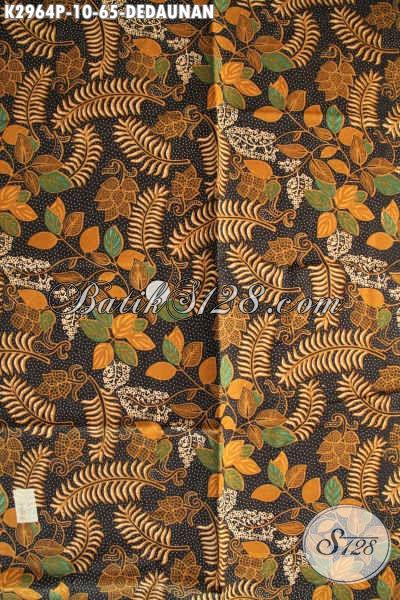 Batik Kain Soo Istimewa, Beli Batik Murah Online, Kain Batik Bahan Pakaian Kerja Dan Jalan-Jalan Proses Printing Motif Dedaunan Harga 60 Ribuan [K2964P-200x110cm]