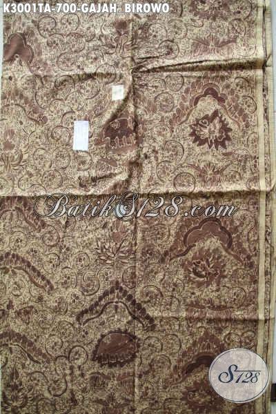 Batik Elegan Motif Gajah Birowo, Kain Batik Premium Solo Halus Proses Tulis, Pas Banget Untuk Pakaian Resmi Yang Berkelas Harga 700K [K3001TA-240x110cm]