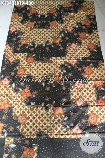 Olshop Produk Batik Online, Sedia Kain Batik Tulis Pola Kemeja Lengan Pendek, Pas Untuk Pakaian Kerja Dan Busana Resmi [K3042LDT-200x110cm]