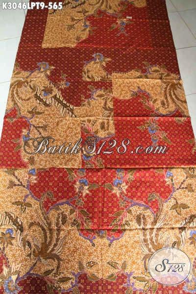 Produk Kain Batik Premium, Batik Halus Proses Tulis Pola Kemeja Lengan Panjang Nan Mewah, Cocok Untuk Baju Resmi [K3046LPT-240x110cm]