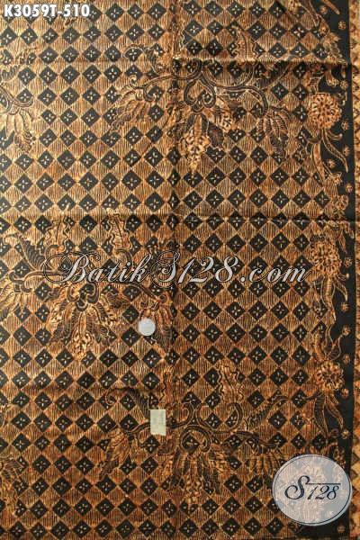 Batik Klasik Solo Mewah Di Jual Online 510K, Batik Bahan Busana Formal Nan Elegan, Penampilan Makin Berwibawa [K3059T-240x105cm]