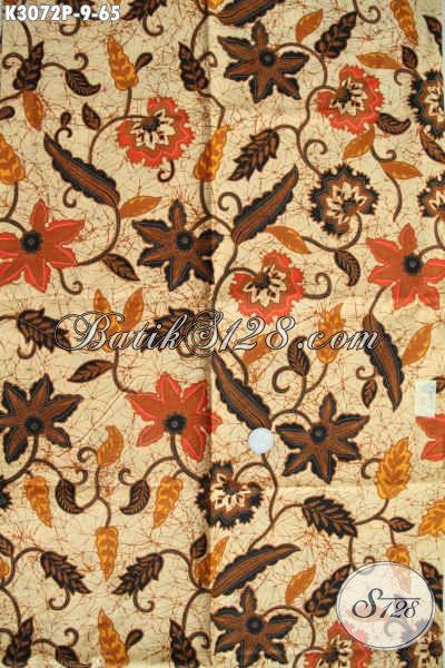 Distributor Kain Batik Solo, Jual Online Batik Printing Istimewa Harga 65K Motif Bagus, Bisa Untuk Baju Kerja Dan Jalan-Jalan Tampil Menawan [K3072P-200x115cm]