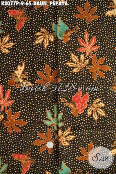 Batik Kain Motif Daun Pepaya, Batik Bahan Pakaian Wanita Dan Pria Proses Printing Harga 65K Kwalitas Bagus [K3077P-200x115cm]