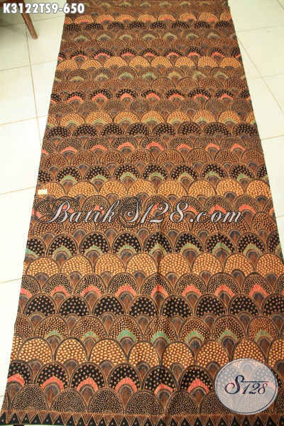 Batik Klasik Nan Elegan, Kain Batik Tulis Soga Khas Jawa Tengah Untuk Busana Mewah Dan Berkelas, Di Jual Online 650K [K3122TS-240x110cm]