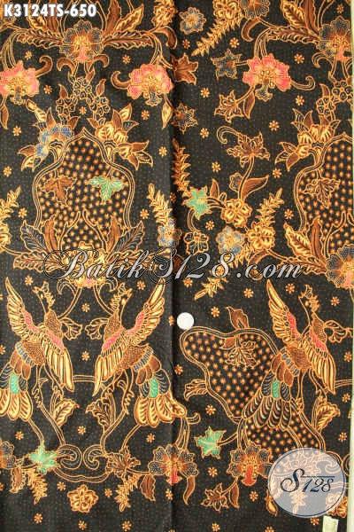 Jual Kain Batik Mewah, Batik Halus Motif Bagus Proses Tulis Soga Sebagai Bahan Pakaian Kerja Dan Rapat Harga 650K [K3124TS-240x110cm]