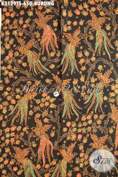 Jual Kain Batik Indonesia Khas Solo Jawa Tengah, Batik Premium Tulis Soga Motif Burung Bahan Busana Mewah Harga 650K Kwalitas Istimewa [K3129TS-240x110cm]