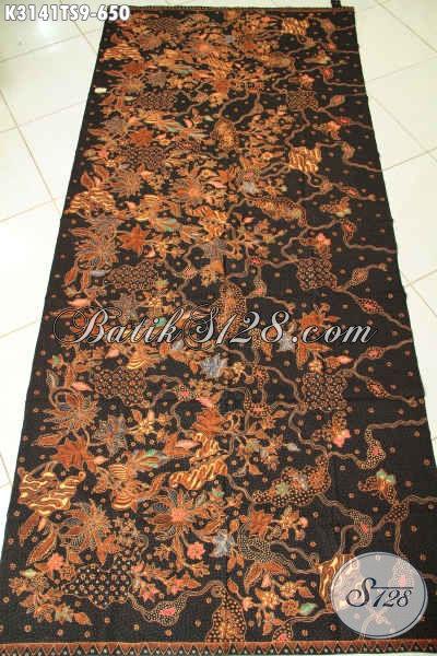 Tempat Beli Kain Batik Premium Online Terpercaya, Sedia Batik Klasik Tulis Soga Halus Bahan Busana Mewah Khas Pejabat 600 Ribuan [K3141TS-240x110cm]