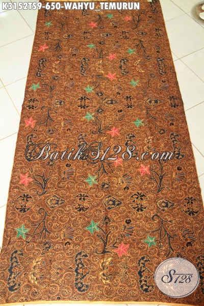 Kain Batik Klasik Wahyu Tumurun, Batik Halsu Tulis Soga Istimewa Untuk Busana Rapat Dan Acara Resmi Harga 650K [K3152TS-240x110cm]