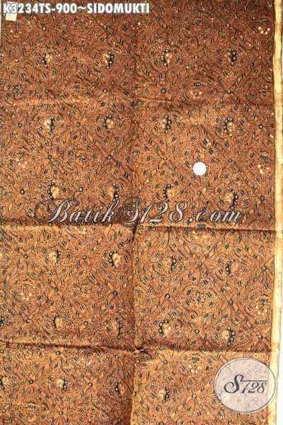 Kain Batik Klasik Sidomukti Proses Tulis Soga, Batik Premium Buatan Solo, Bahan Pakaian Berkwalitas Tinggi Menunjang Penampilan Lebih Berkelas Harga 900K [K3234TS-240cmx110cm]