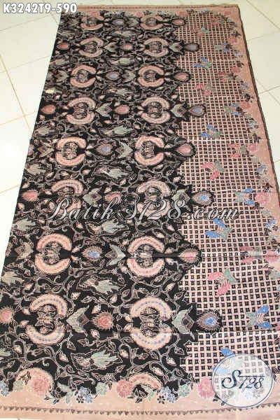 Jual Kain Batik Solo Tulis Tangan Asli, Batik Klasik Elegan Bahan Pakaian Resmi Nan Berkelas, Penampilan Terlihat Mewah [K3242T-240cmx110cm]