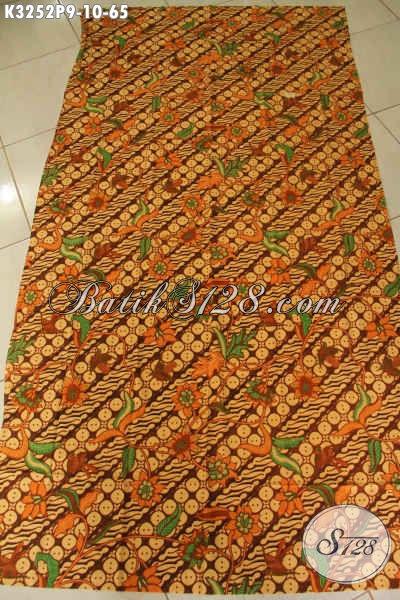 Batik Kain Solo Halus Motif Klasik Parang Bunga, Batik Elegan Bahan Pakaian Wanita Pria Tampil Lebih Menawan [K3252P-200x115cm]