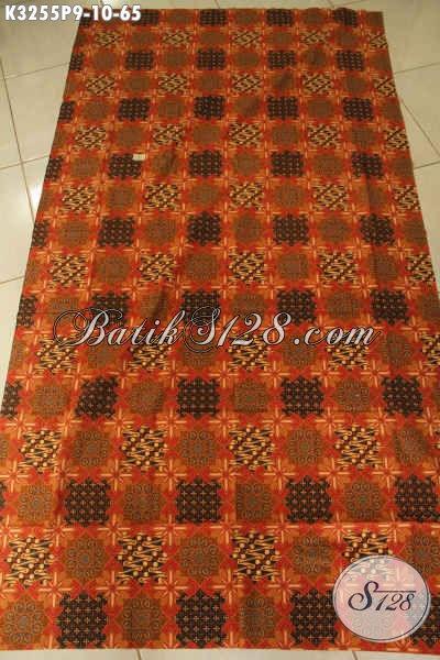 Kain Batik Printing Halus Motif Kekinian, Batik Modern Bahan Pakaian Kerja Pria Muda Dan Dewasa Penampilan Gagah Mempesona [K3255P-200x115cm]