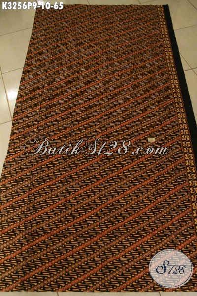 Kain Batik Klasik Solo Proses Printing, Batik Halus Warna Elegan Etnik Bahan Busana Formal Nan Berkelas Hanya 65K [K3256P-200x115cm]