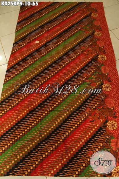 Batik Kain Halus Dan Adem, Batik Printing Solo Motif Klasik Elegan Dan Mewah, Pas Banget Untuk Busana Resmi [K3258P-200x115cm]