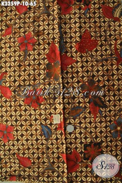 Jual Batik Kain Solo Proses Printing, Batik Istimewa Harga Biasa Motif Klasik, Cocok Untuk Baju Kerja Ataupun Kondangan [K3259P-200x115cm]