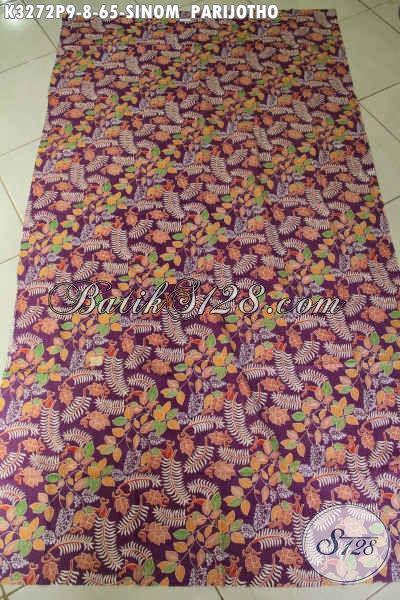 Jual Produk Kain Batik Solo Motif Sinom Partijotho, Batik Printing Halus Harga 65K Kwalitas Istimewa [K3272P-200x115cm]