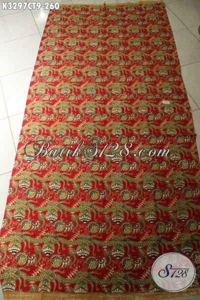Produk Kain Batik Terbaru, Batik Solo Istimewa Berkelas Motif Mewah Kwalitas Premium Proses Cap Tulis, Bahan Pakaian Wanita Dan Pria [K3297CT-240x110cm]