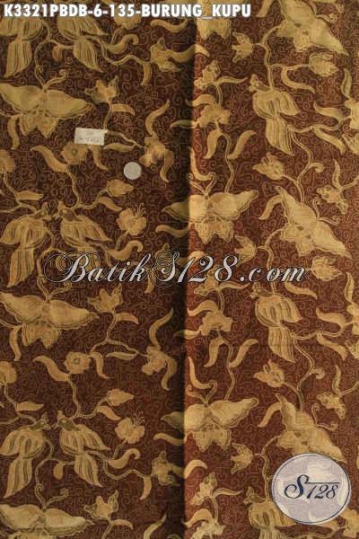 Produk Terbaru Kain Batik Dolby Nan Istimewa, Batik Halus Jawa Tengah Proses Printing Motif Burung Kupu Kwalitas Istimewa, Pas Untuk Busana Santai [K3321PBDB-240x110cm]