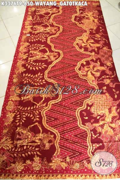 Jual Kain Batik Mewah Premium Motif Wayang Gatotkaca Limited Edition, Batik Tulis Asli Cocok Untuk Busana Formal Dan Santai Hanya 650K