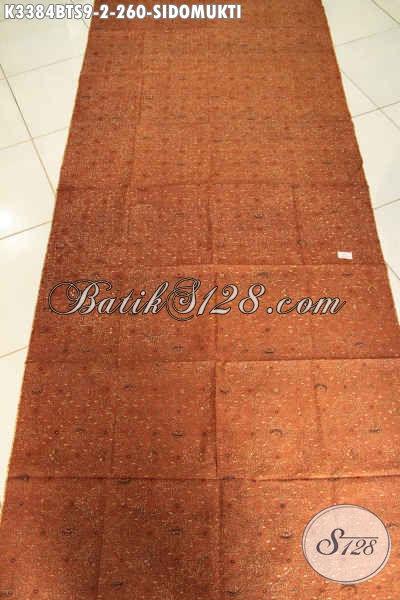 Jual Kain Batik Solo Nan Istimewa, Batik Klasik Jawa Tengah Motif Sidomukti Cocok Untuk Jarik Proses Kombinasi Tulis Soga Harga 200 Ribuan