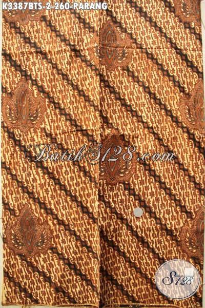 Toko Batik Online Terlengkap, Sedia Batik Jarik Klasik Etnik Kwalitas Halus Motif Parang, Batik Berkelas Proses Kombinasi Tulis Hanya 200 Ribuan [K3387BTS-240x105cm]