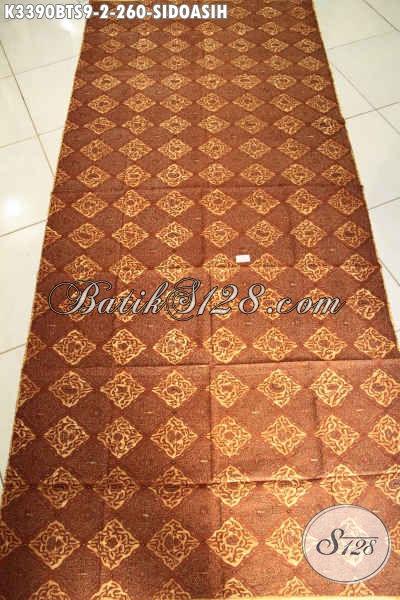 Batik Kain Mewah Halus Motif Klasik Sidoasih, Batik Solo Nan Istimewa Bahan Jarik Proses Kombinasi Tulis Soga Hanya 200 Ribuan