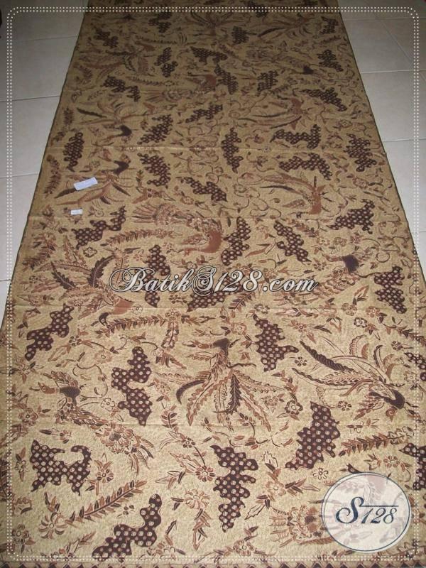 Batik Tulis Pewarna Alami Motif Burung Merak, Bagus Kemeja, Blus dan Koleksi Pribadi [K953TA]