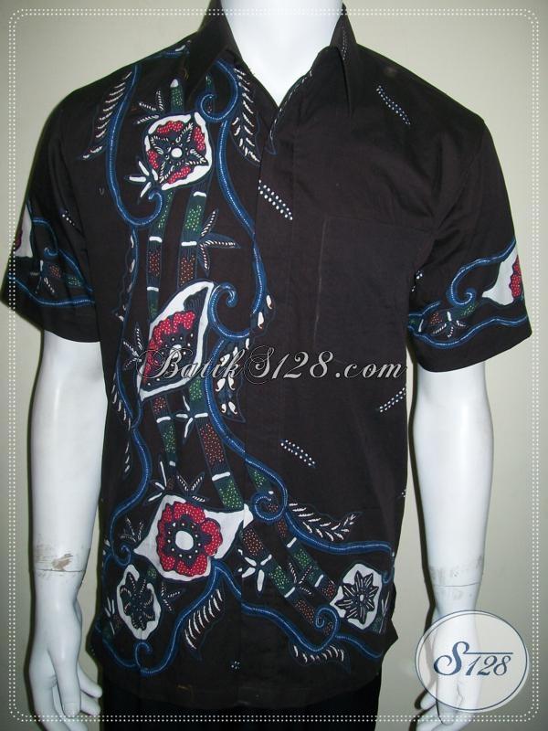 Jual Baju Batik Tulis Solo Pria Motif Abstrak Modern Lengan Pendek [LD1025T-M]