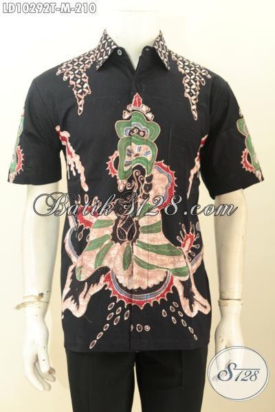 Model Baju Batik Hem Tulis Warna Hitam Motif Keren Daleman Full Furing, Pas Banget Buat Hangout [LD10292T-M]
