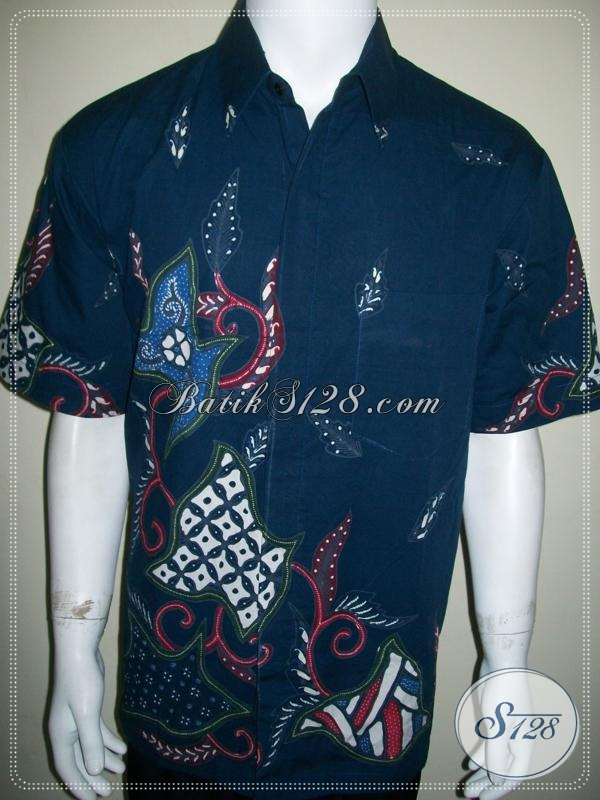 Butik Batik Online Amanah Terpercaya, Batik Tulis Pria Warna Biru Elegan [LD1032T-XL]