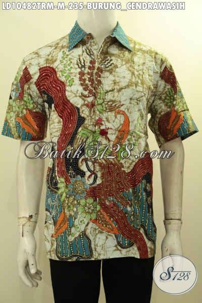 Model Baju Kemeja Batik Cowok Size M Lengan Pendek, Hem Batik Solo Istimewa Proses Tulis Remekan, Pas Banget Buat Ngantor