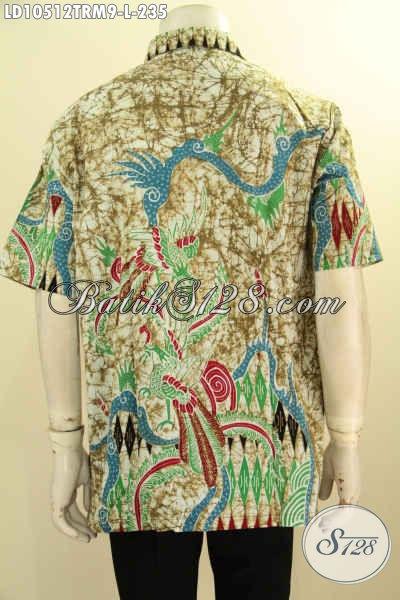 Model Baju Batik Pria Kwalitas Bagus, Hem Batik Seragam Kerja Modis Dan Kekinian Proses Tulis Remekan, Penampilan Tampan Menawan [LD10512TRM-L]
