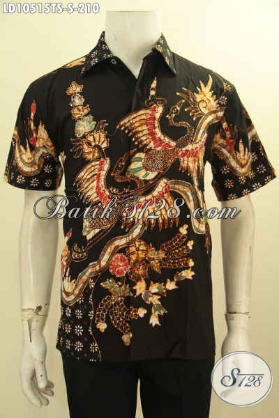 Model Baju Batik Kerja Pria Lengan Pendek, Hem Batik Halus Proses Tulis Soga Motif Modern Untuk Penampilan Lebih Bergaya [LD10515TS-S]