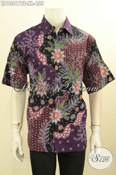 Batik Kemeja Kerja Pria Dewasa Ukuran XL, Hadir Dengan Motif Elegan Berkelas Tulis Asli Daleman Di Lengkapi Furing Harga 455K