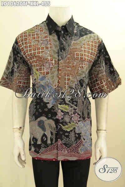 Model Baju Batik Hem Pria Gemuk, Busana Batik Elegan Dan Keren Full Furing Motif Bagus Proses Tulis, Penampilan Lebih Tampan Menawan [LD10620TF-XXL]