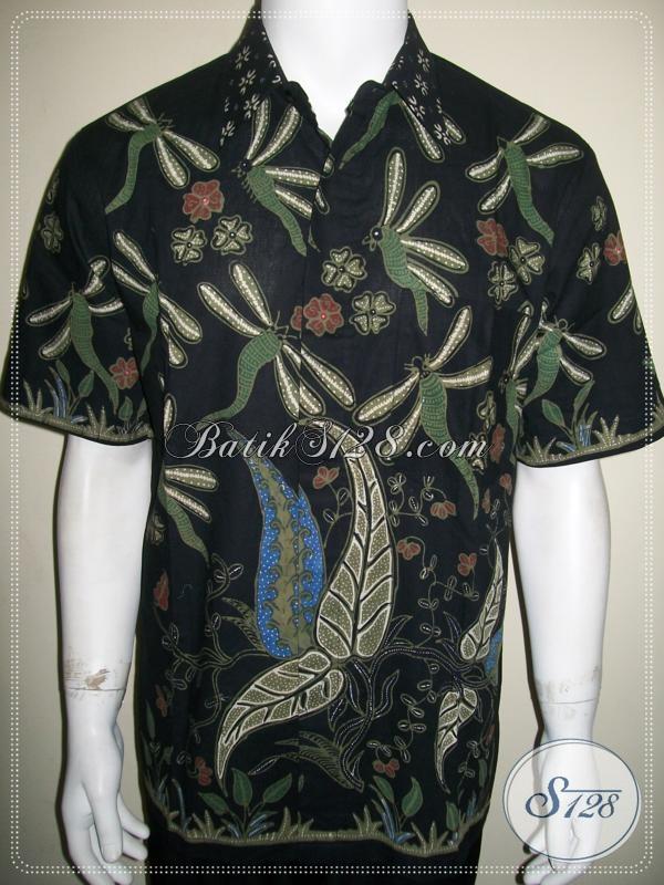 Batik Tulis Motif Capung Unik, Kemeja Batik Modern Dijual Online [LD1067T-L]