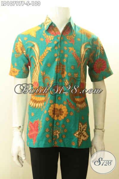 Hem Batik Trendy Yang Bikin Pria Terlihat Tampan Dan Gaya, Hadir Dengan Motif Kekinian Proses Printing Bahan Adem Warna Cerah Hanya 100K [LD10797P-S]