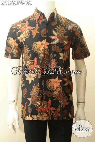 Model Baju Batik Lelaki Untuk Terliha Beda Dan Gaya, Hem Batik Lengan Pendek Istimewa Proses Printing Motif Kekinian Harga Murmer [LD10799P-S]