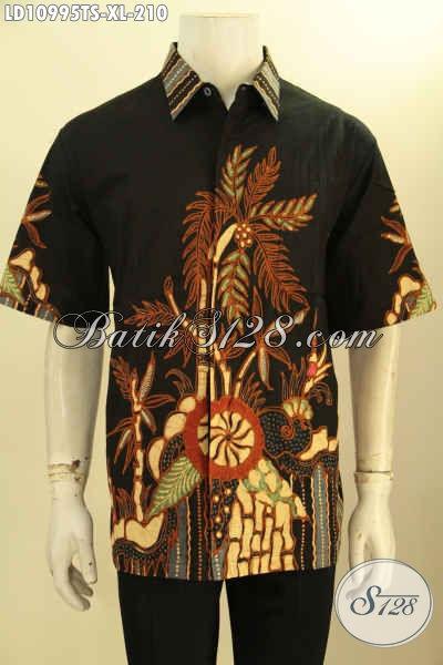 Hem Batik Elegan Warna Klasik Tulis Soga Model Lengan Pendek Motif Keren, Pakaian Batik Istimewa Bahan Adem, Cocok Buat Kerja Kantoran Hanya 200 Ribuan