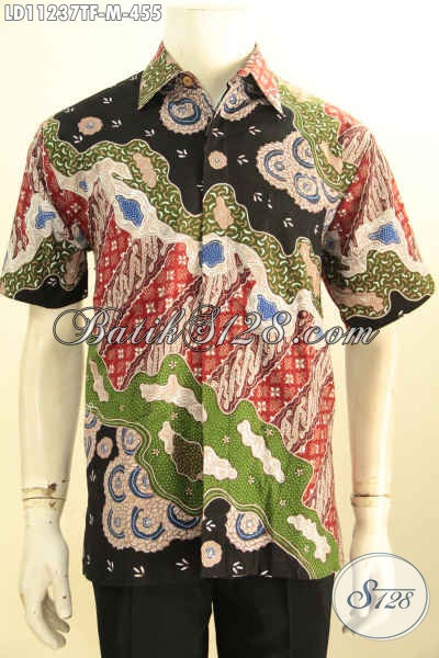 Baju Batik Atasan Pria Lengan Pendek Full Furing, Kemeja Batik Full Tulis Nan Berkelas Bahan Adem Untuk Penampilan Yang Sempurna [LD11237TF-M]