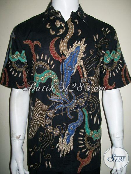Kemeja Batik Pria Untuk Eksekutif Muda Dan Artis, Motif Mirip Batik Yang Dipakai Ahmad Dhani [LD1368T-L]