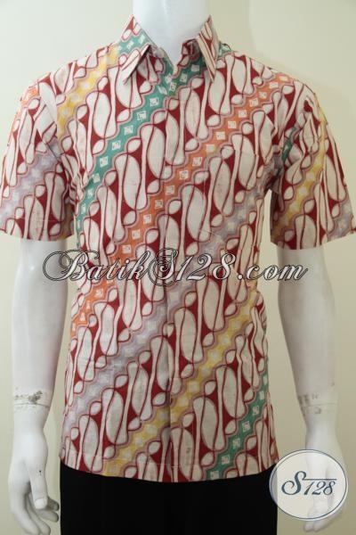 Kemeja Batik Pria Motif Parang Elegan, Maskulin, Priyayi Solo [LD2261C-M]
