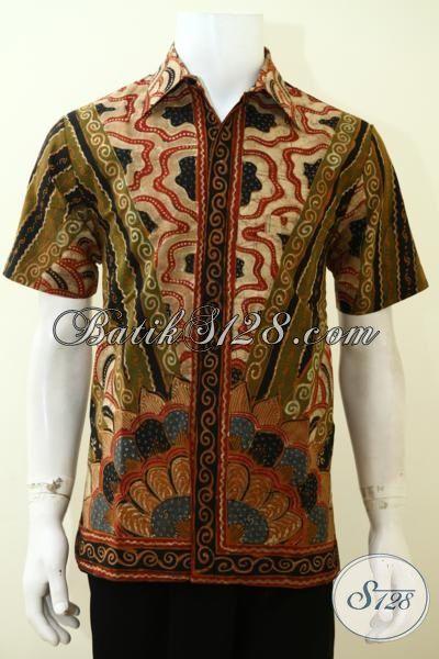 Hem Mewah Kwalitas Premium Motif Paling Baru, Busana Batik Lengan Pendek Daleman Full Furing Membuat Lelaki Makin Keren Dan Berwibawa [LD3501TF-M]