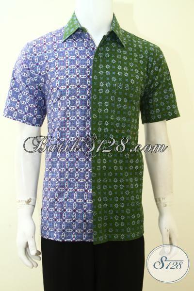 Kemeja batik pria kombinasi terbaru