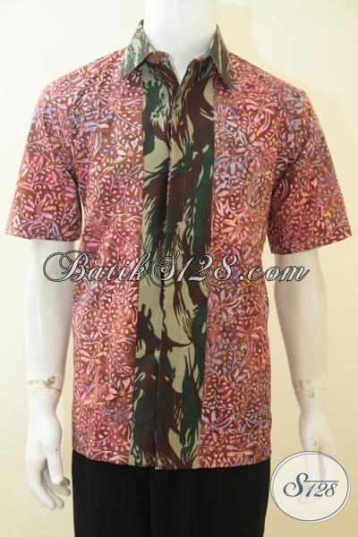 Kemeja batik pria murah model army
