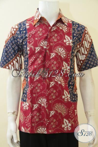 Jual Baju Hem Batik Online Untuk Remaja Pria Serta Lelaki Muda, Pakaian Batik Lengan Pendek Proses Cap Tulis Kombinasi Motif Untuk Penampilan Makin Menawan [LD4602CT-S]